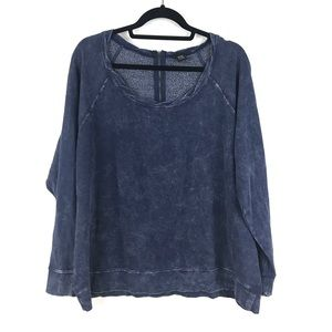Torrid Sz 1 Distressed Blue Pullover Sweatshirt